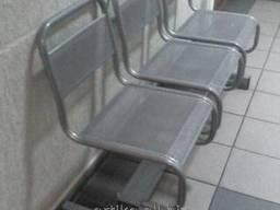 Секция сидений с перфорацией стальная