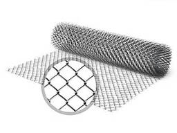 Сетка рабица оцинкованная 15х15х1, 2 в рулоне, размер: 1х10 м
