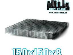 Сетка сварная арматурная дорожная 150х150х8 В500С
