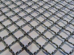 Сетка тканая из рифленой проволоки (канилированная)