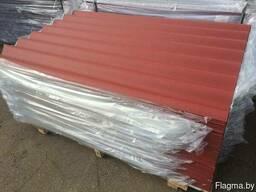 Шифер красный восьмиволновой 5.2 мм.