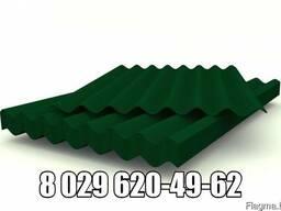 Шифер зеленый волновой (лист 1,75м х 1,13м) 5,2мм