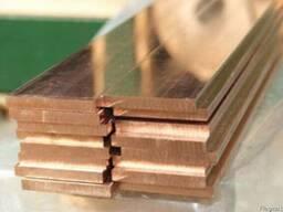 Шина полоса медная электротехническая М1,М2,М3