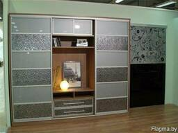 Шкафы-купе под заказ вставки ЭкоКожи