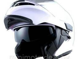 Шлем мотоцикл 1STORM HB89 модуляр (с очками) черный матовый XL