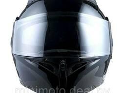 Шлем мото 1STORM HB89 модуляр (с очками) черный матовый L