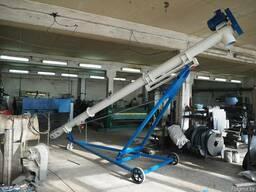 Шнековый транспортер с лебедкой на колесах
