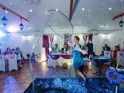 Шоу мыльных пузырей на свадьбу (юбилей корпоратив)