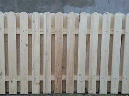 Штакетник деревянный двойной. Забор деревянный