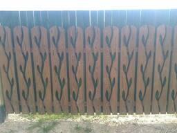 Штакетник резной, деревянный - фото 1