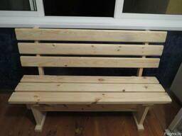 Скамейка деревянная, скамейка на дачу