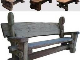 Скамейки из массива Дуба