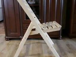 Складной деревянный стул 02