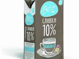 Сливки молочные BRISE 10% 1л ультрапастеризованные