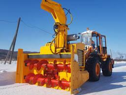 Снегоочиститель с автономным двигателем для фронтальных погрузчиков