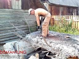 Снять Убрать стяжку бетонное основание отмостку Минск Смолев