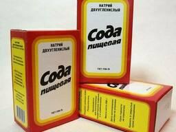 Сода пищевая (бикарбонат натрия) в картонной пачке по 500 гр