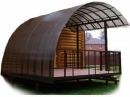 Сотовый поликарбонат для теплиц и козырьков 4-10 мм Доставка
