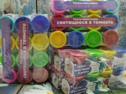 Сплит - пак Genio Kids: Набор для детской лепки со штампами Тесто-пластилин. ..