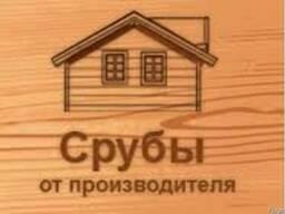 Сруб бани. Баня. Деревянный дом. Беседка