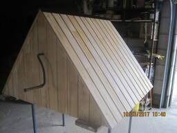 Сруб, домик, крышка, оголовок, шалаш с воротом на колодец