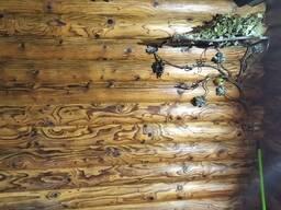 Срубы из оцилиндрованного бревна