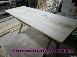 Стол деревянный для дачи, дома, деревни, беседки.