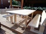 Стол и скамейки (садовая мебель) - фото 4