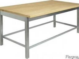 Стол кондитерский 1500х700х860,деревянная столешница,нержаве