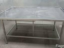 Стол нутровочный со склизом из нержавеющей стали AISI304