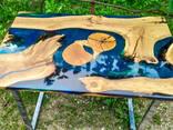 Стол-река, эксклюзивные слэбы, изготовление под заказ - фото 2