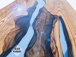 Стол-река лофт дуб массив