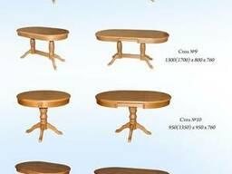 Столы обеденные из натурального дерева (дуб,ясень,ольха)