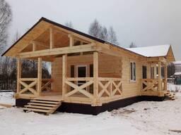Строительство деревянных домов из бруса и кругляка.