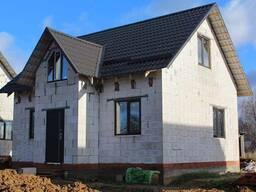 Строительство домов. Фундамент, кладка блоков, устройство крыш.