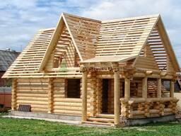 Строительство домов из бревна оцилиндрованного