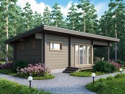 Строительство гостевого дома из дерева. Под ключ.