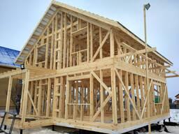 Строительство каркасных домов, беседки.