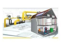 Строительство систем газоснабжения и сантех.работы
