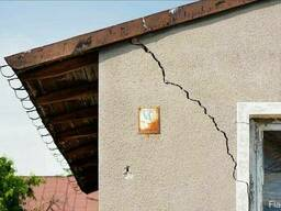 Стягивание дома, устраним трещины стен, фундамента