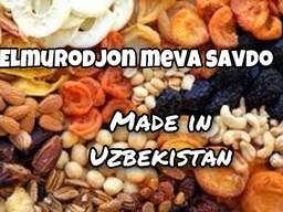 Сухофрукты, фрукты, овощи и веники из Узбекистана
