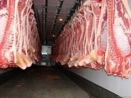 Свинину 1-2 кат охлажденную/заморож в полутушах