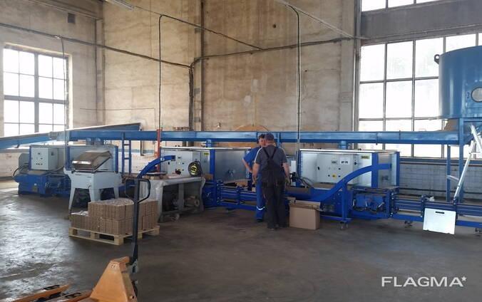 Технологическая линия по производству брикетов типа RUF из щепы