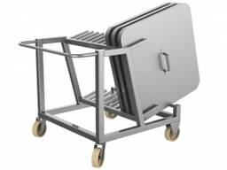 Тележка для транспортировки крышек чан-тележек (китаянок)