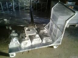 Тележка платформенная из нержавеющей стали (грузовая) - фото 2