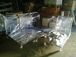 Тележка платформенная из нержавеющей стали (грузовая) - фото 4