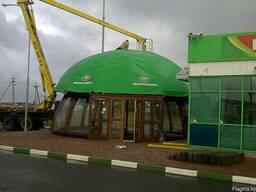 Тентовые покрытия крыша ангар купол навес