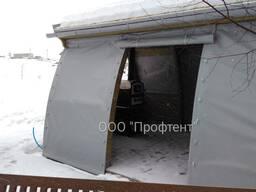 Тентовые шторы для укрытия и защиты беседки, веранды, террасы от дождя и снега
