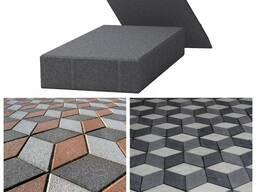 Тротуарная плитка Ромб 246*146*60мм цветной