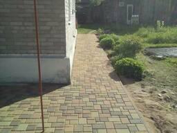 Тротуарная плитка, укладка тротуарной плитки.